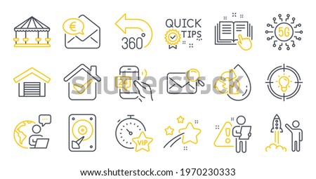 set of technology icons  such