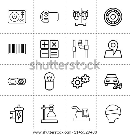 set of 16 technology outline