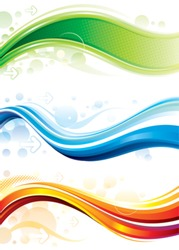 Set of technology web background/banner. Vector layered.