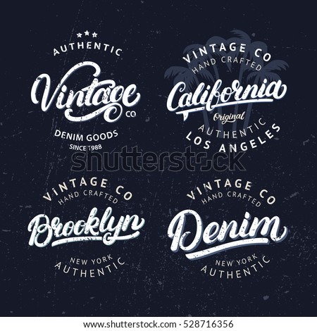 set of tee prints  labels ...