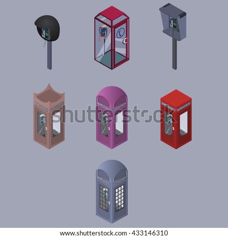 set of telephone box