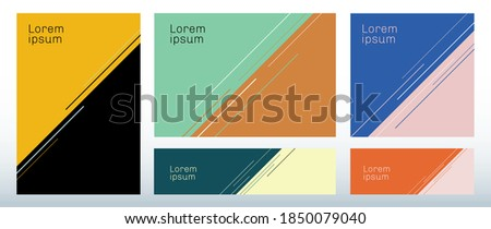 Set of template abstract triangle background with diagonal line decoration. You can use for brochure cover, poster, banner web, flyer, etc. Vector illusration Сток-фото ©