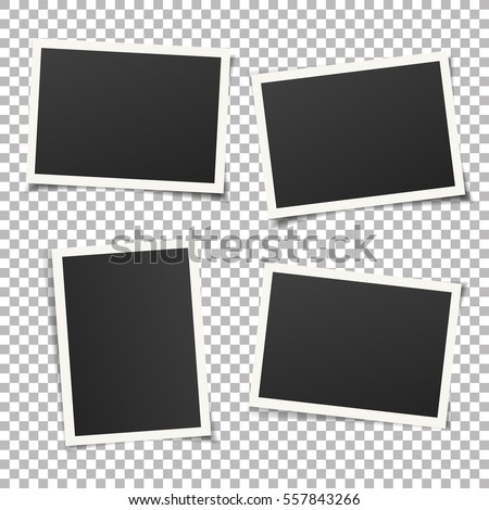 set of template photo frames