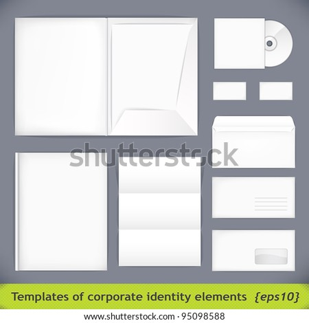 Set of templates corporate identity. vector illustration (eps10)