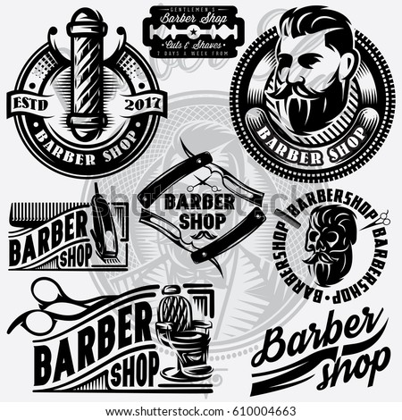 set of templates for barbershop
