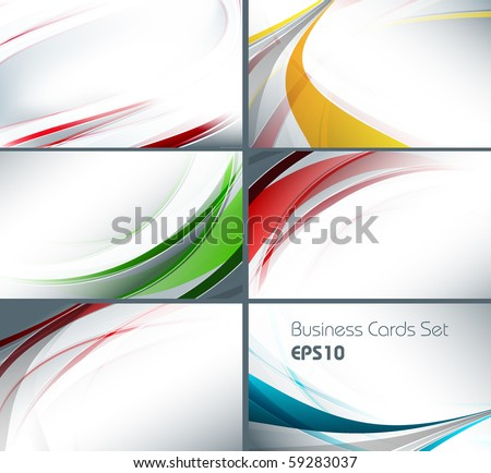 set of templates for business cards. Elements for design. Eps10