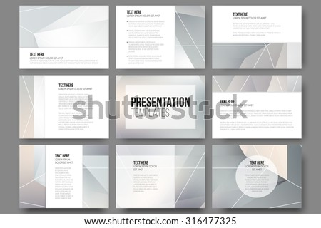 set of 9 templates for