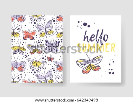 set of templates for summer