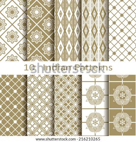 Set of ten Indian patterns
