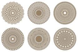Set of tessellation molecules design in Islamic tile patterns. Arabian Mediterranean art pattern vector templates. Created using AI CS6.