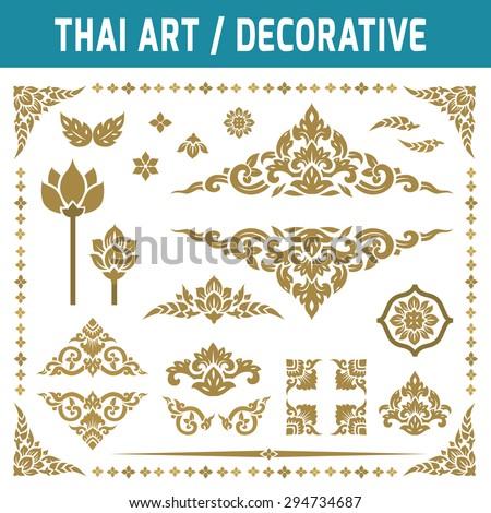 set of thai art element....