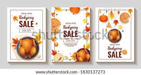 set of thanksgiving day promo