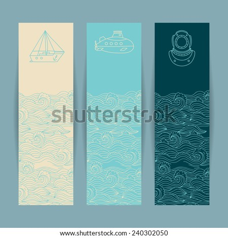 set of the colorful banners