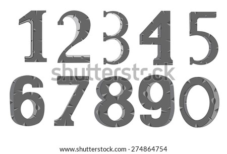 set of the decorative numerals