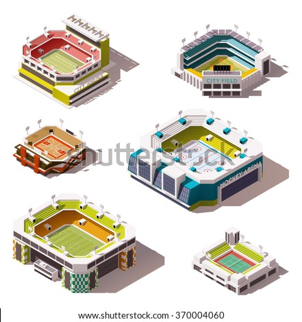 set of the different isometric