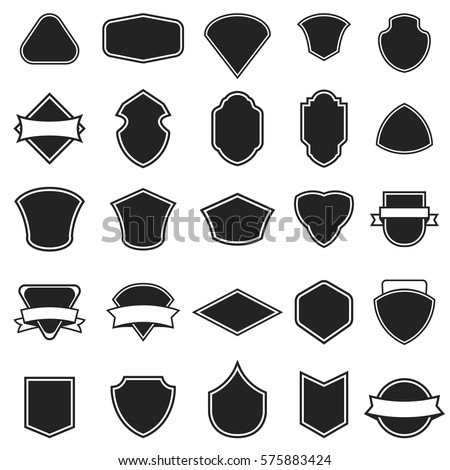Set of the empty emblems isolated on white background. Design elements for logo, label, emblem, sign. Vector illustration.