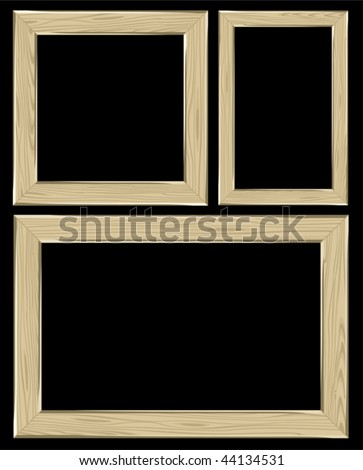 Set of the frames. Vector