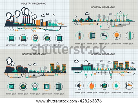 set of the infographic template