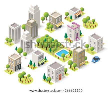 set of the isometric city