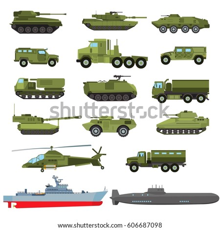 set of the military enginery or