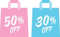 Set of the paper bag of the sale