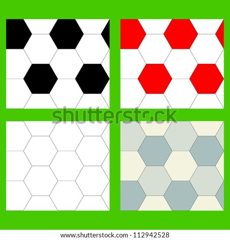 Set of the seamless backgrounds executed from hexagons, painted in various colors (possibility of repainting of hexagons is provided)
