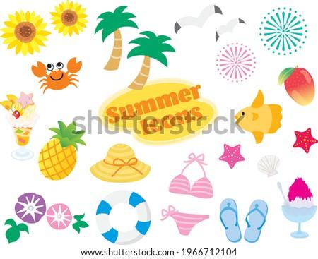 set of the summer illustration