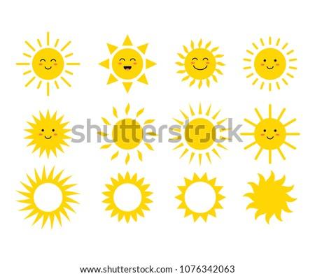 set of the suns cute suns