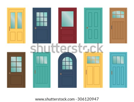 set of the various doors on the