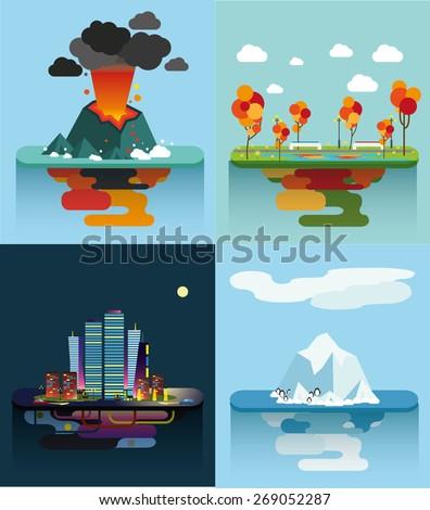 set of the vector islands