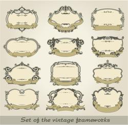 Set of the vintage frameworks