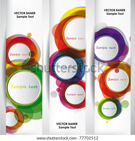 Set of the 160x600 abstract banners. - stock vector