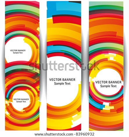 Set of the 160x600 abstract circle banners.
