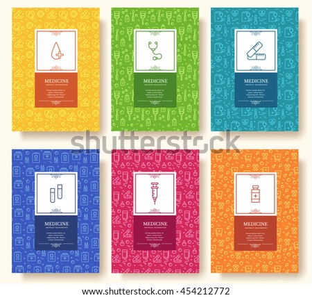 Free medical kit vector download free vector art stock graphics set of thin line medical vacation pattern concept art traditional magazine book stopboris Images
