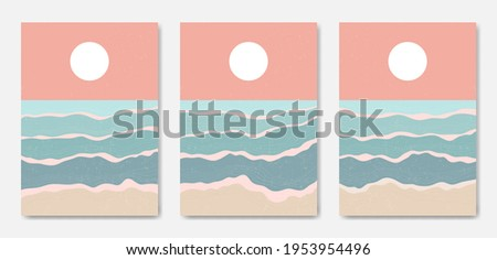 set of three abstract aesthetic