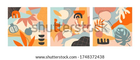 set of three abstract designs