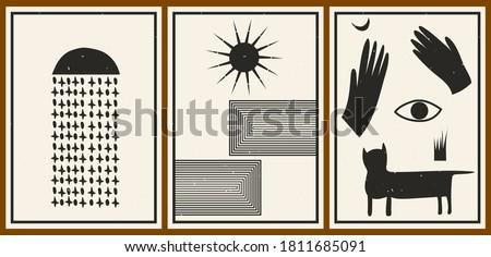 set of three abstract