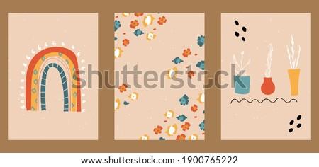 set of three abstract pop art