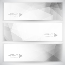 Set of three backgrounds with triangular pattern
