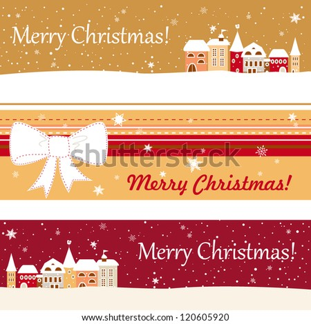 Set of three banner for christmas for your website, vector EPS10