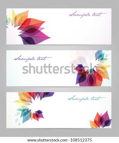 set of three banners  abstract