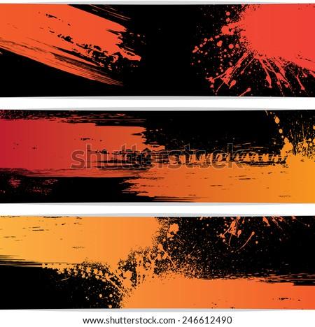 set of three black frames with