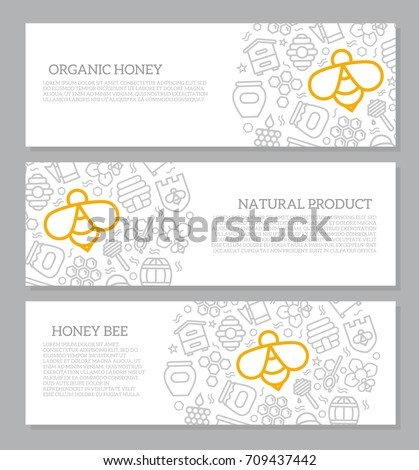 set of three digital honey and