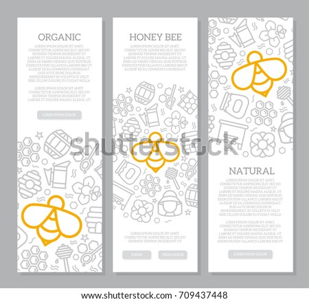 set of three digital honey and