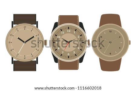 set of three mechanical watches