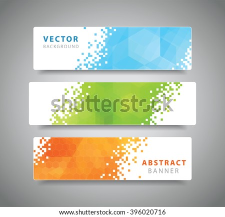 set of three modern geometric
