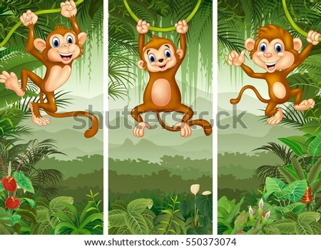 set of three monkey with