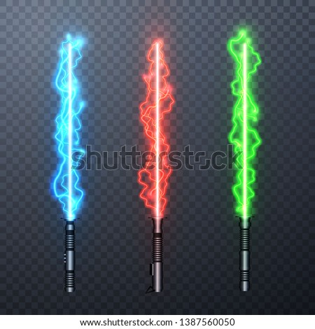 set of three realistic electric