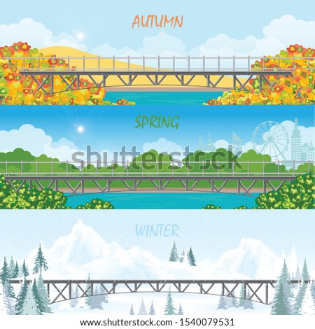 set of three season horizontal