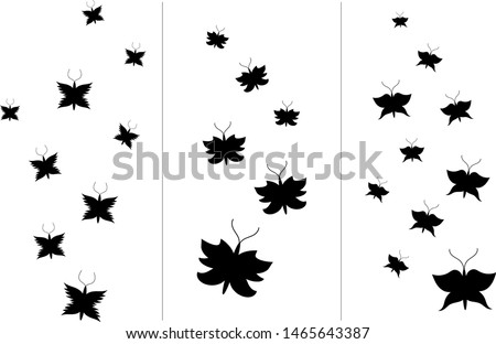 set of three simple swarms of